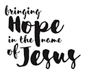 Bringing hope in the name of Jesus